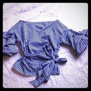 Cross blouse